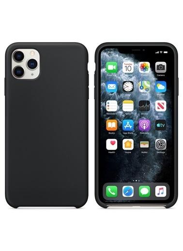 Bludfire Apple iPhone 11 Pro (5.8'') Kılıf Liquid Lansman Silikon Siyah Siyah
